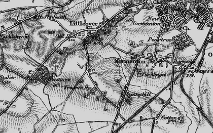 Old map of Hillcross in 1895