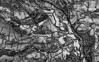 Old map of Hillsborough in 1896