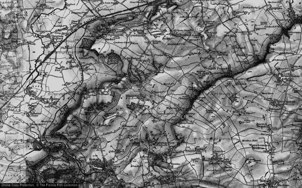 Old Map of Hilmarton, 1898 in 1898