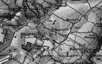 Old map of Hilmarton in 1898