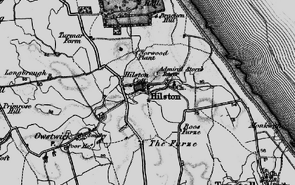Old map of Admiral Storr's Tower in 1895