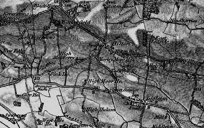 Old map of Todwell Ho in 1897