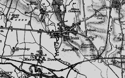 Old map of Hilton in 1897