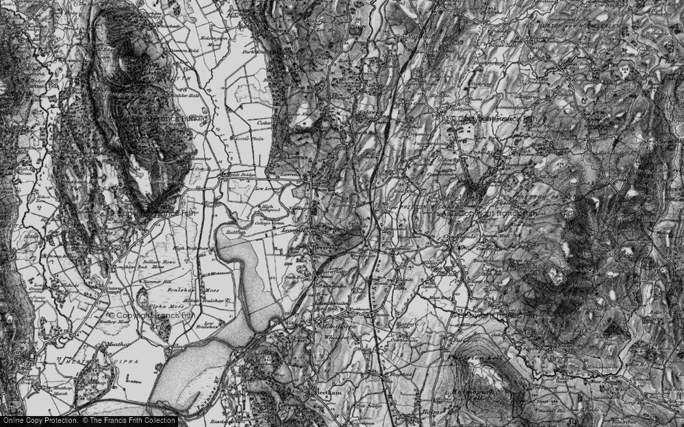 Old Map of Historic Map covering Levens Park in 1898
