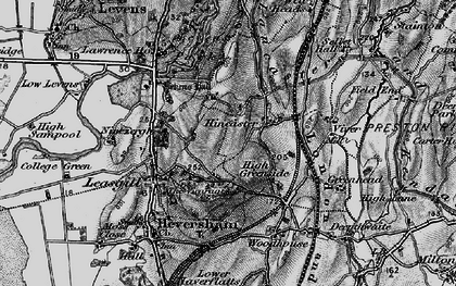 Old map of Levens Park in 1898