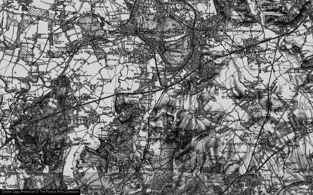 Old Map of Hinchley Wood, 1896 in 1896