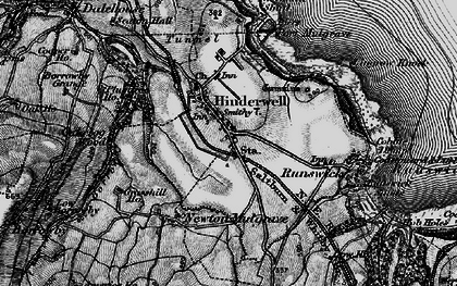 Old map of Hinderwell in 1898