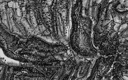 Old map of Hindhead in 1895