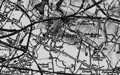 Old map of Hindley in 1896