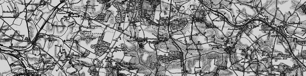 Old map of Wood Severals in 1898