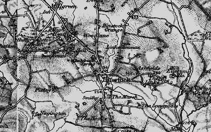 Old map of Hinstock in 1897