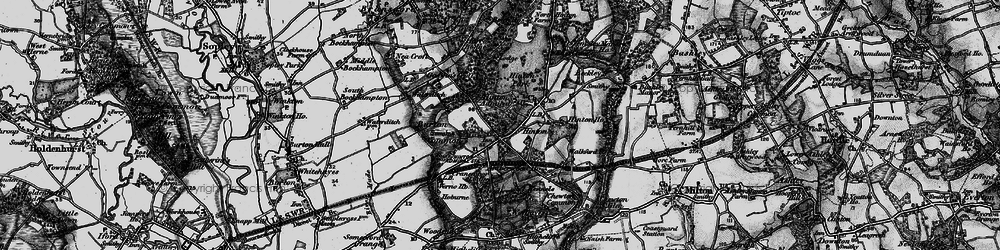 Old map of Hinton in 1895