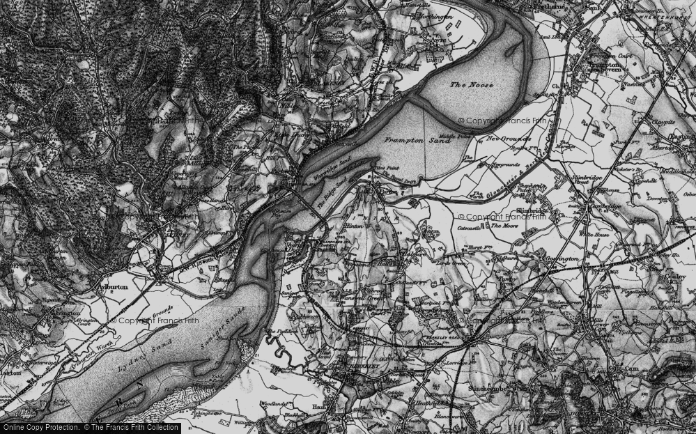 Old Map of Historic Map covering Tites Point in 1897