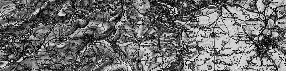 Old map of Hinton Charterhouse in 1898