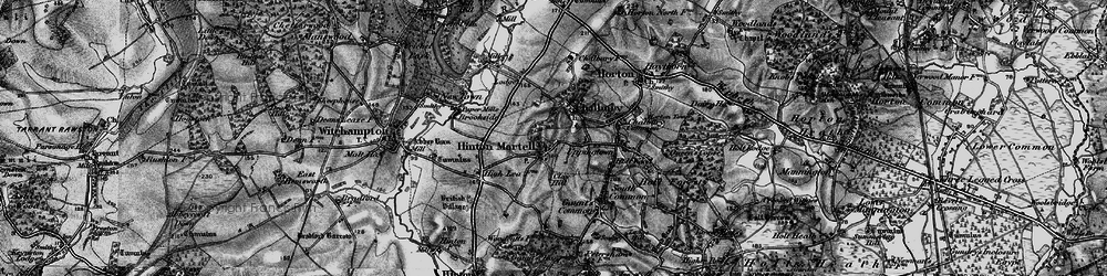 Old map of Hinton Martell in 1895