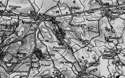 Old map of Wigley in 1899