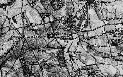 Old map of Hipswell in 1897