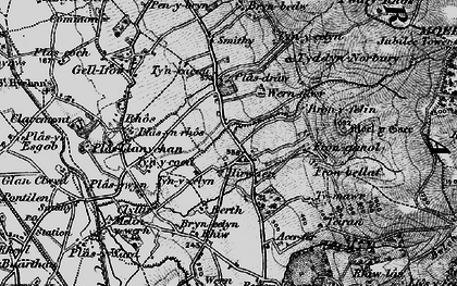 Old map of Hirwaen in 1897