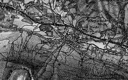 Old map of Afon Cynon in 1898