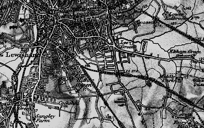 Old map of Hither Green in 1896