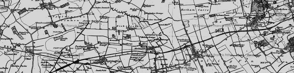 Old map of Yokefleet Lodge in 1895