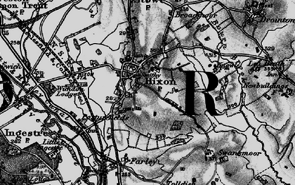 Old map of Hixon in 1898