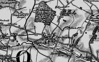 Old map of Whitford Br in 1898