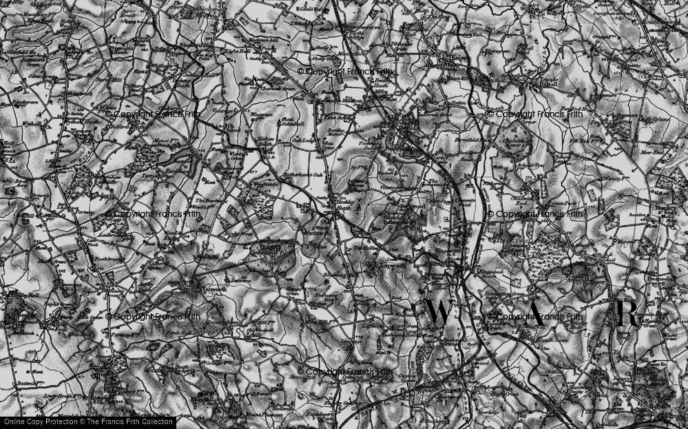 Old Map of Historic Map covering Aylesbury Ho (Hotel) in 1898