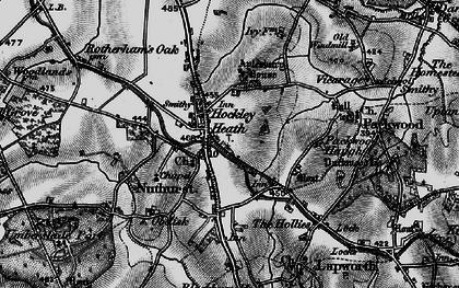 Old map of Aylesbury Ho (Hotel) in 1898