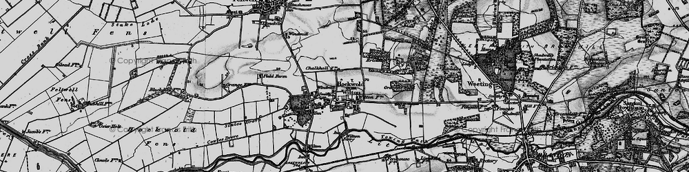 Old map of Wilton Br in 1898