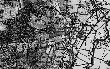 Old map of Hoddesdon in 1896