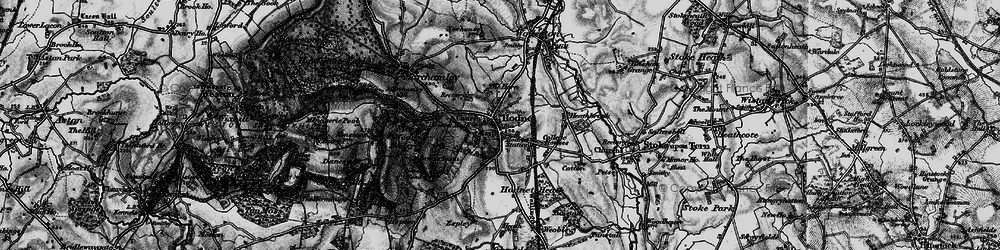 Old map of Hodnet in 1897