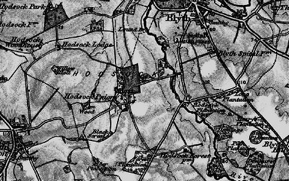 Old map of Ash Holt in 1899