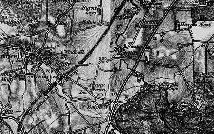 Old map of Hodthorpe in 1899