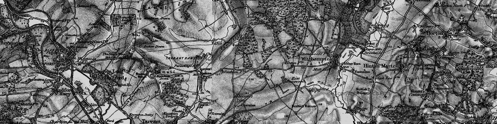 Old map of Abbeycroft Down in 1895