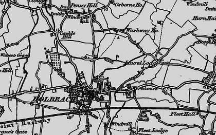 Old map of Holbeach in 1898