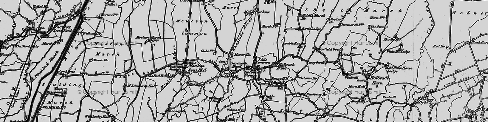 Old map of Whaplode River in 1898
