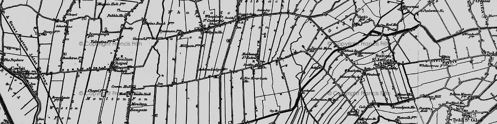 Old map of Whaplode Fen in 1898