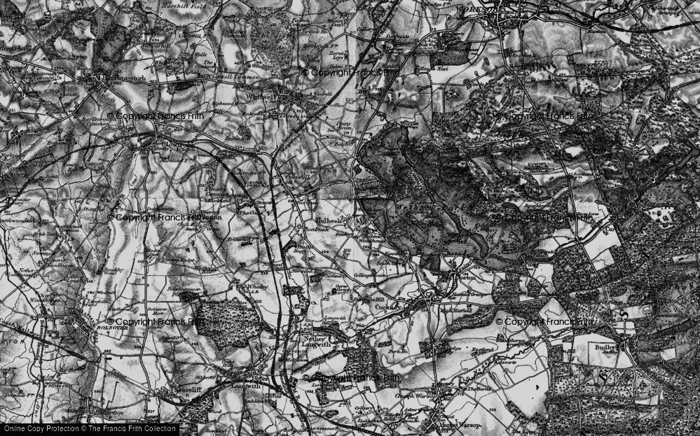 Old Map of Historic Map covering Woodhouse Hall in 1899