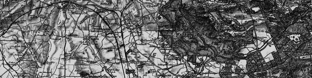 Old map of Tile Kiln Wood in 1899