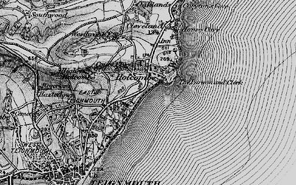 Old map of Holcombe in 1898