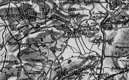 Old map of Holcombe Rogus in 1898