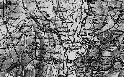 Old map of Wycongill in 1898