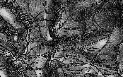 Old map of Whitefield in 1898