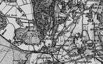 Old map of Holker Hall in 1898
