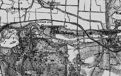Old map of Holkham in 1898