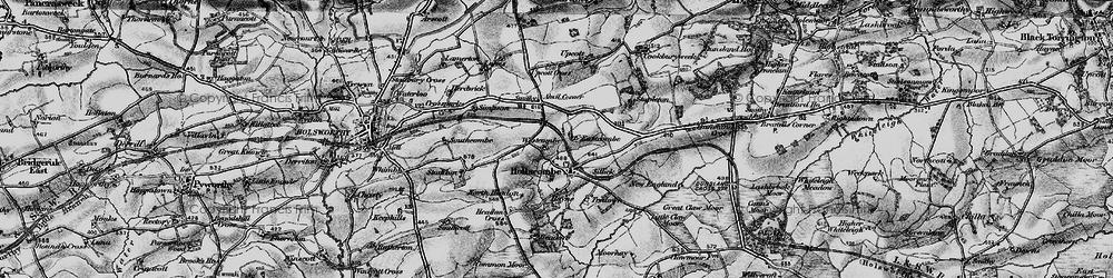Old map of Anvil Corner in 1895