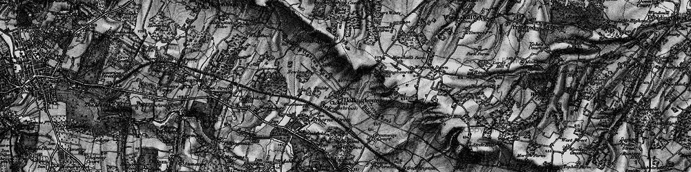 Old map of White Post in 1895