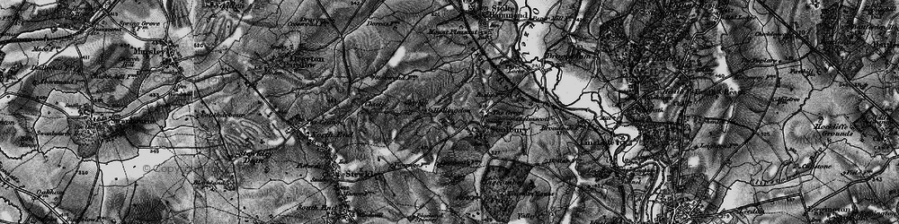 Old map of Winscott in 1896
