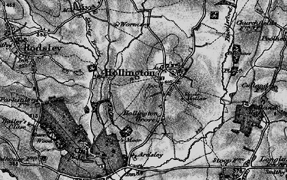 Old map of Wormsley in 1897